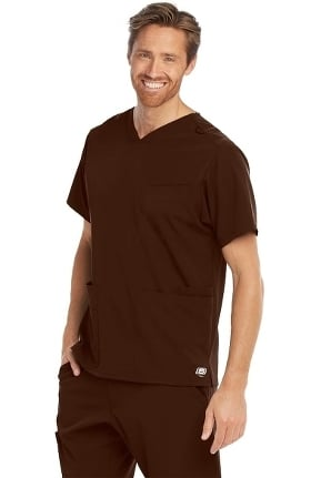Skechers Men's Aspire V-Neck Solid Scrub Top