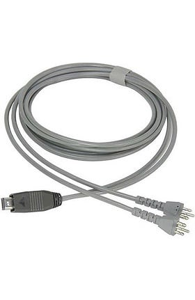 Cardionics Y-Cable For Direct Audio Input - 2 Euro Plugs Accessory