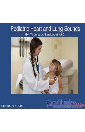 Cardionics Pediatric Heart & Lung Sounds Audio CD