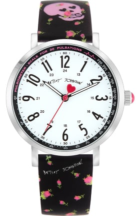 Betsey Johnson by koi Women's Rose Bud Skulls Surgical Grade Watch