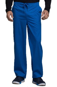 Luxe by Cherokee Men's Fly Front Scrub Pant