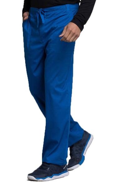 Pewter Cherokee Scrubs Luxe Mens Fly Front Drawstring Pants 1022 PEWV