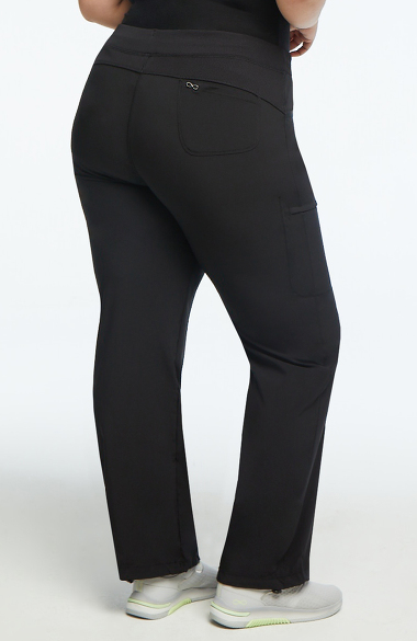 6bddc7ea5f0 Infinity by Cherokee Women's Rib Knit Drawstring Waist Scrub Pant. Play  Video