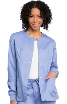 Luxe by Cherokee Women's Warm Up Solid Scrub Jacket