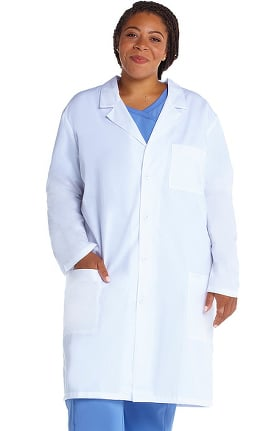 "Professional Whites by Cherokee Unisex Vented Back 40"" Lab Coat"