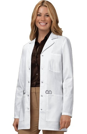 "Professional Whites by Cherokee Women's Snap Front Princess Seam 32"" Lab Coat"