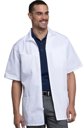 "Professional Whites by Cherokee Men's Med-Man Zip Front 32"" Lab Coat"