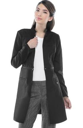 """Luxe by Cherokee Women's Zip Away 32"""" Lab Coat"""