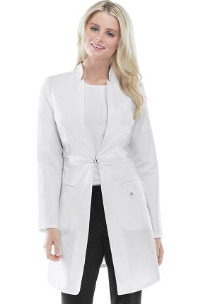 "Luxe by Cherokee Women's Zip Away 32"" Lab Coat"