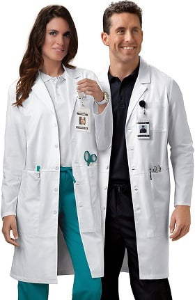"Clearance Professional Whites by Cherokee Unisex iPad 40"" Lab Coat"