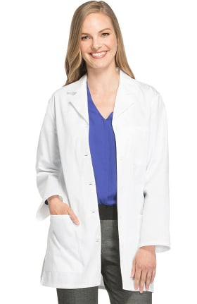 "Professional Whites by Cherokee Women's Notched Lapel 32"" Lab Coat"