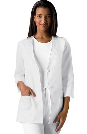 Professional Whites by Cherokee Women's 3/4 Sleeve Solid Scrub Jacket
