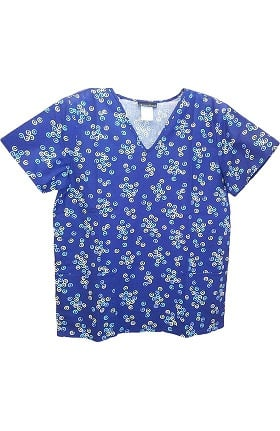 Clearance Cherokee Women's V-Neck Abstract Print Scrub Top