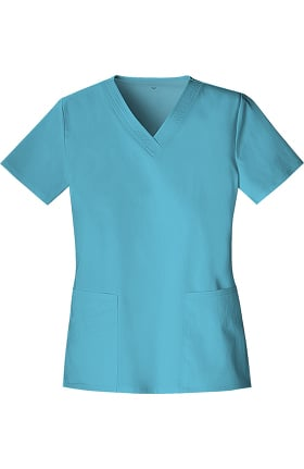 Clearance Luxe by Cherokee Women's Two Pockets V-Neck Solid Scrub Top