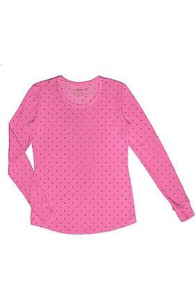 Clearance heartsoul Women's Round Neck Long Sleeve Print T-Shirt