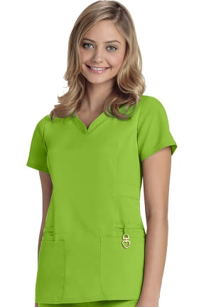 Clearance Head Over Heels by heartsoul Women's Beloved V-Neck Scrub Top