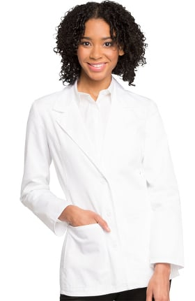 "Professional Whites by Cherokee Women's Blazer Style 28"" Lab Coat"