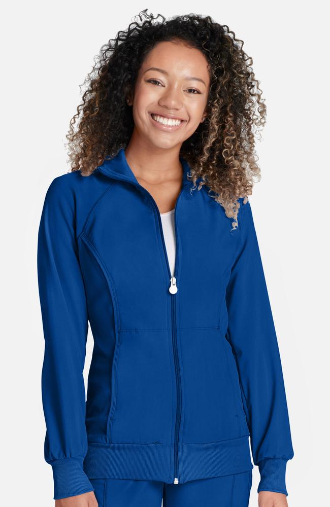 4b44fb759db Infinity by Cherokee Women's Zip Front Warm-Up Solid Scrub Jacket ...
