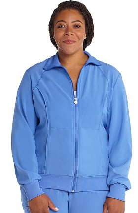 Infinity by Cherokee Women's Zip Front Warm-Up Solid Scrub Jacket