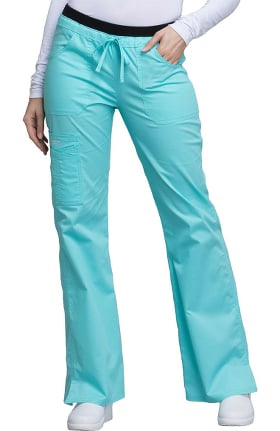 Clearance Core Stretch by Cherokee Workwear Women's Flare Leg Scrub Pant