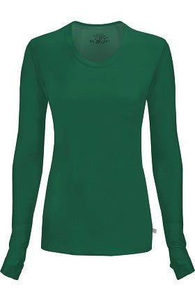 Clearance Infinity by Cherokee Women's Round Neck Long Sleeve Underscrub