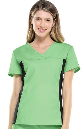 Clearance Flexibles by Cherokee Women's V-Neck with Stretch Side Panels Solid Scrub Top