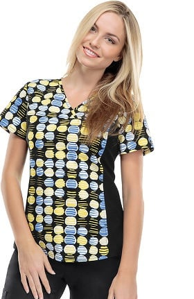 Clearance Flexibles by Cherokee Women's V-Neck Dot Print Scrub Top