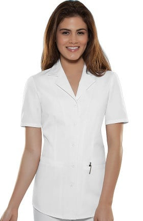 Clearance Professional Whites by Cherokee Women's Lapel Collar Nurse's Solid Scrub Top