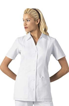 Professional Whites by Cherokee Women's Nurse's Stand Collar Solid Scrub Top
