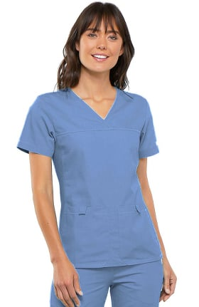 Flexibles by Cherokee Women's Pro V-Neck Solid Scrub Top