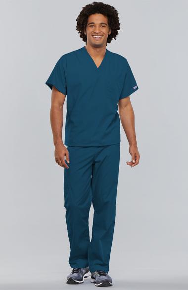 Scrub Set V-neck  2 Pocket Normal Pant 2X Navy  Cotton Polyester