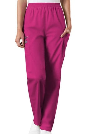 Clearance Cherokee Workwear Originals Women's Scrubs Elastic Waist Utility Scrub Pants