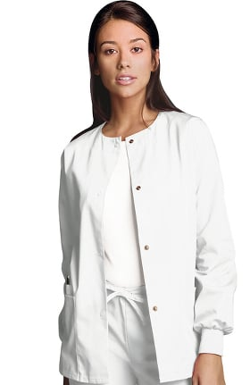 5774aeb1c21 Cherokee Workwear Originals Women's Jewel Neck Warmup Solid Scrub Jacket