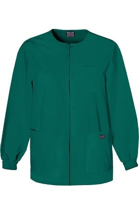 Clearance Cherokee Workwear Originals Men's Snap Front Solid Scrub Jacket