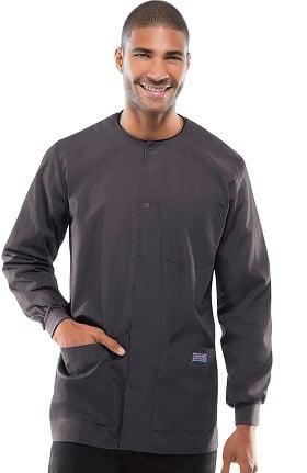 Cherokee Workwear Originals Men's Snap Front Solid Scrub Jacket