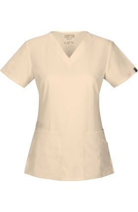 Clearance WW Flex by Cherokee Workwear Women's V-Neck Solid Scrub Top