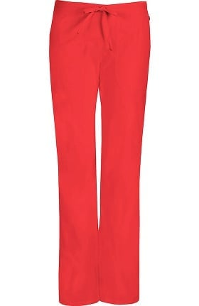 Clearance code happy Women's Mid-Rise Flare Leg Drawstring Scrub Pant