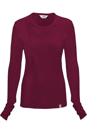 Clearance code happy Women's Round Neck Long Sleeve Knit T-Shirt
