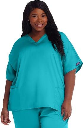 Cherokee Workwear Originals Women's V-Neck 2 Pocket Solid Scrub Top