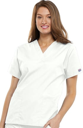 3eac5333f49 Cherokee Workwear Originals Women's V-Neck 2 Pocket Solid Scrub Top
