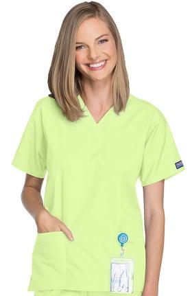 Clearance Cherokee Workwear Originals Women's V-Neck 2 Pocket Solid Scrub Top