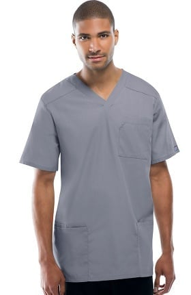Cherokee Workwear Originals Unisex Tall V-Neck Solid Scrub Top