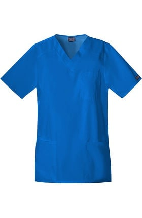 Clearance Cherokee Workwear Originals Unisex Tall V-Neck Solid Scrub Top