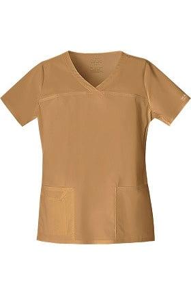Clearance Core Stretch by Cherokee Workwear Women's V-Neck Yoke Solid Scrub Top