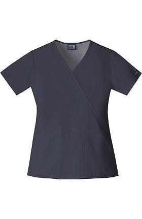 Clearance Cherokee Workwear Originals Women's Mock Wrap Solid Scrub Top