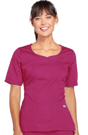 Cherokee Workwear Originals Women's Novelty V-Neck Solid Scrub Top