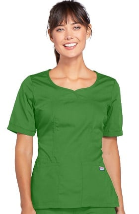 Clearance Cherokee Workwear Originals Women's Novelty V-Neck Solid Scrub Top