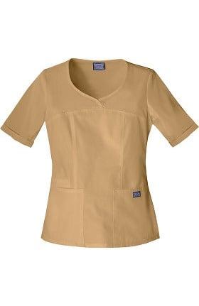 Clearance Cherokee Workwear Originals Women's Novelty V-Neck Solid Scrub Top