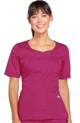 Cherokee Workwear Originals Women's Novelty V-Neck Solid Scrub Top