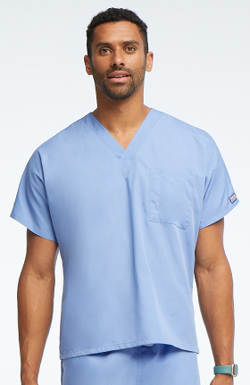 Cherokee Workwear Originals Unisex V-Neck 1-Pocket Solid Scrub Top